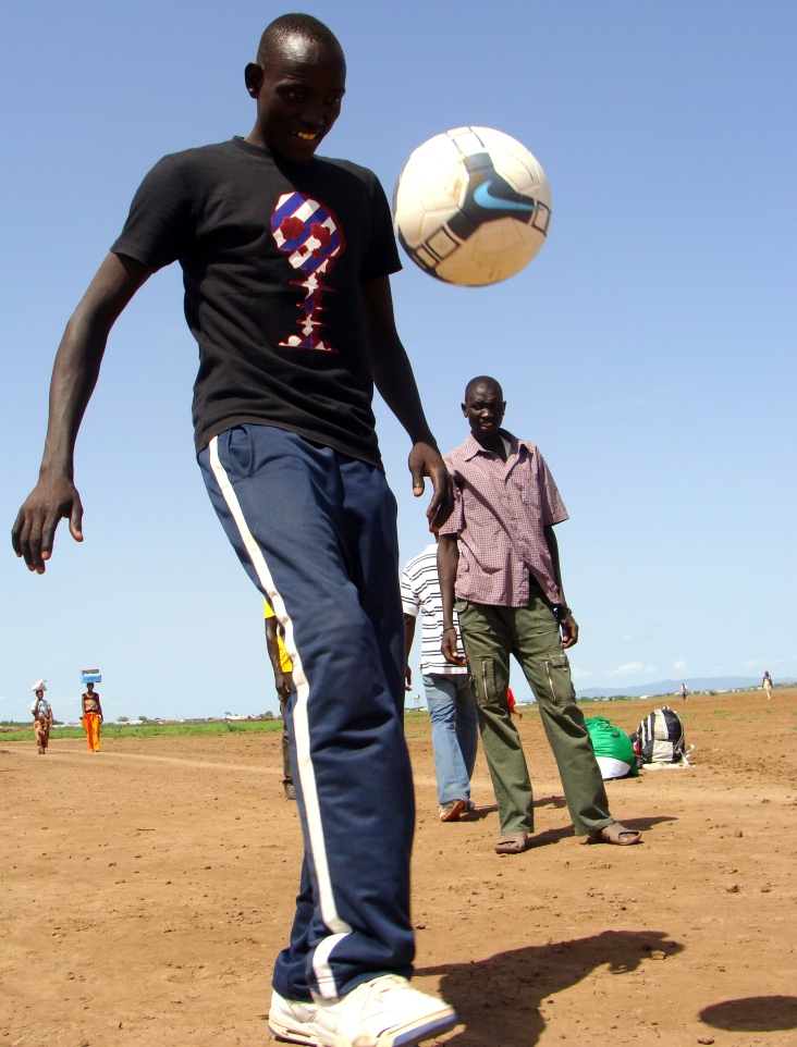Many NGOs, including the UNHCR, support sports activities for younger refugees to help them exercise and build leadership skills.
