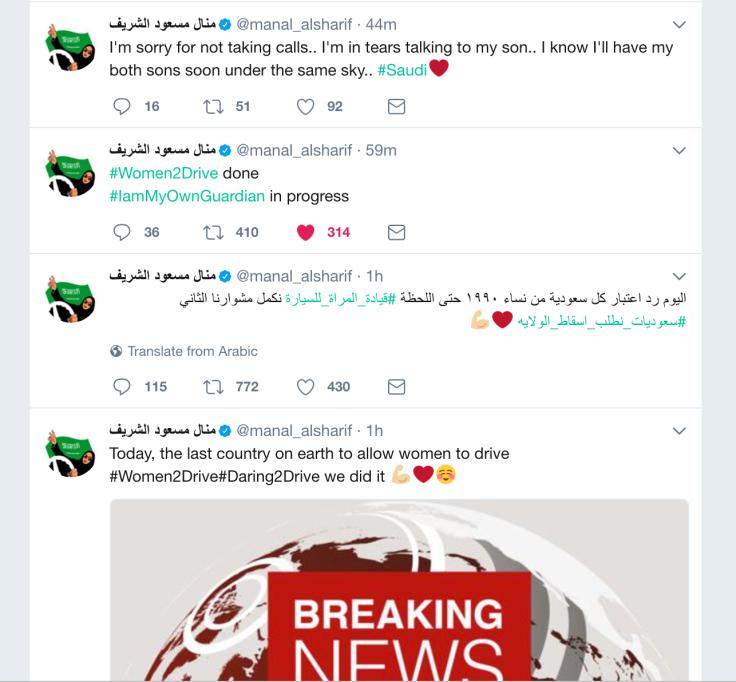 Manal Al-Sharif Twitter Feed
